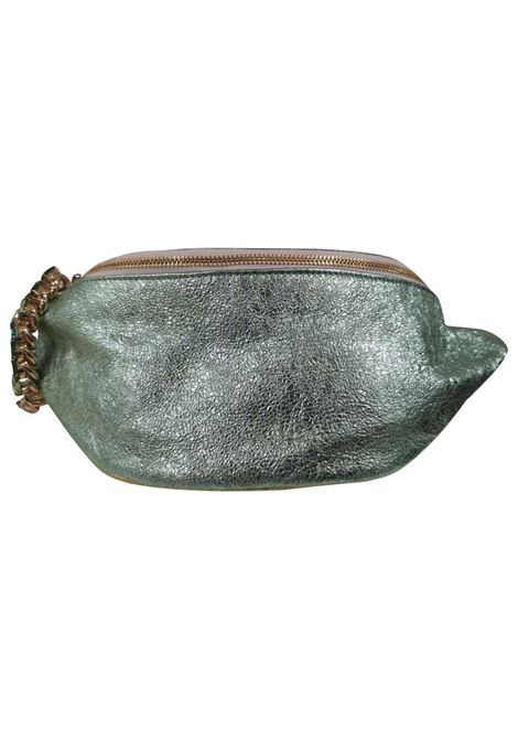 LisaC green glitter leather fanny pack with swarovski Lisa C. Bijoux | Borsa | BANANA-