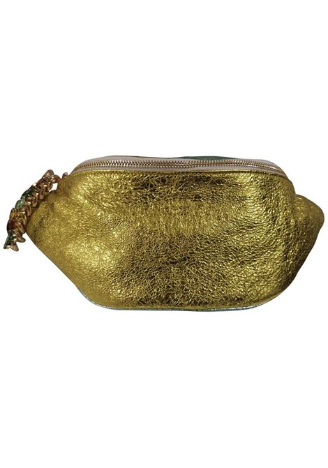 LisaC green glitter leather fanny pack with swarovski Lisa C. Bijoux | Bags | BANANAGIALLO