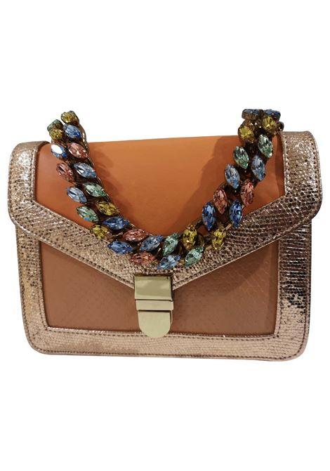 LisaC orange textile and leather shoulder handbag Lisa C. Bijoux | Borsa | BESS-