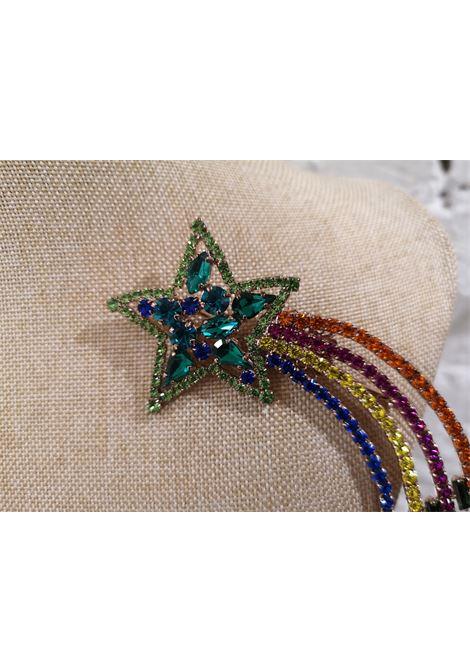 LisaC multicoloured swarovski stones flamingo brooch Lisa C. Bijoux | Brooches | BROOCH.RAINBOW STAR