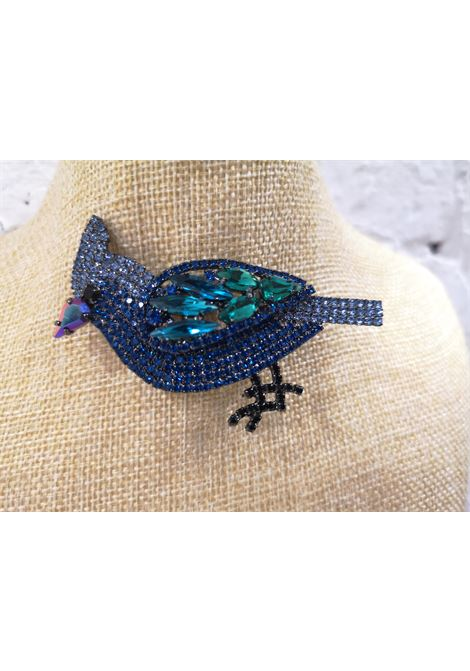 Lisac Blue swarovski parrot brooch Lisa C. Bijoux | Brooches | BROOCHPARROT