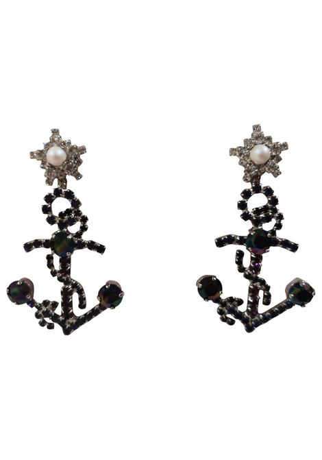 LisaC black swarovski anchor earrings Lisa C. Bijoux | Earrings | CAMILA-