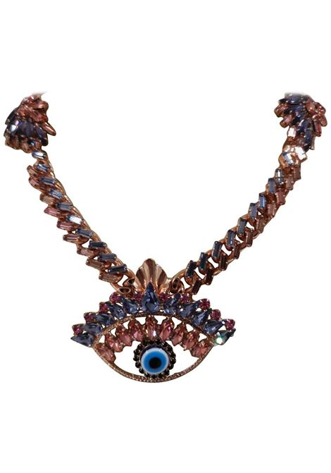 LisaC Eye Swarovsky Necklace Lisa C. Bijoux | Necklaces | COLLANA-INES