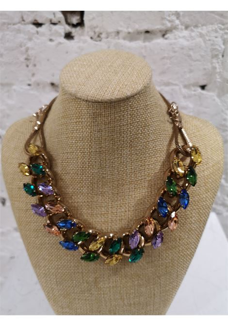 LisaC multicolour swarovski stones necklace Lisa C. Bijoux | Necklaces | COLLANABAT