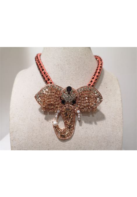 LisaC elephant necklacemade with real swarovski stones Lisa C. Bijoux | Collana | DAYA-