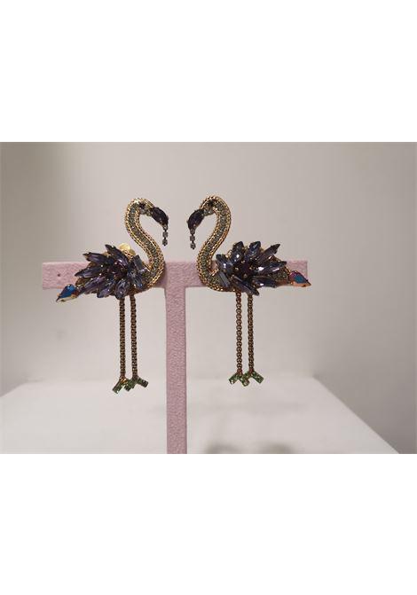 LisaC swarovski stones flamingo earrings Lisa C. Bijoux | Earrings | EARRINGS,.-,BABY IBIS