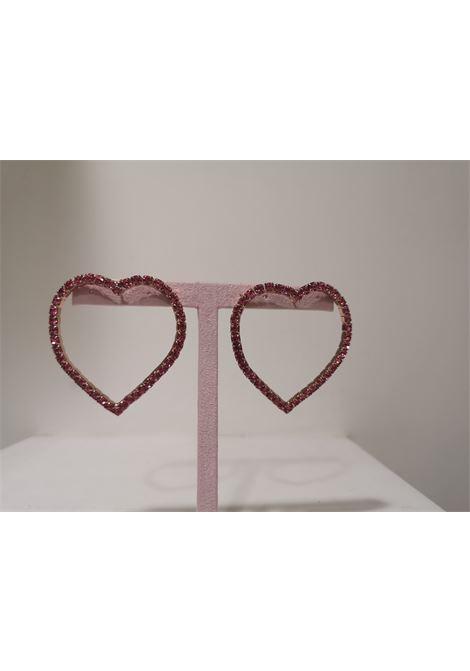LisaC Pink swarovski stones heart earrings Lisa C. Bijoux | Earrings | EARRINGS,.-,COEUR