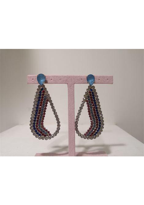 LisaC Swarovski stones pendant drops earrings Lisa C. Bijoux | Earrings | EARRINGS.,BON BON