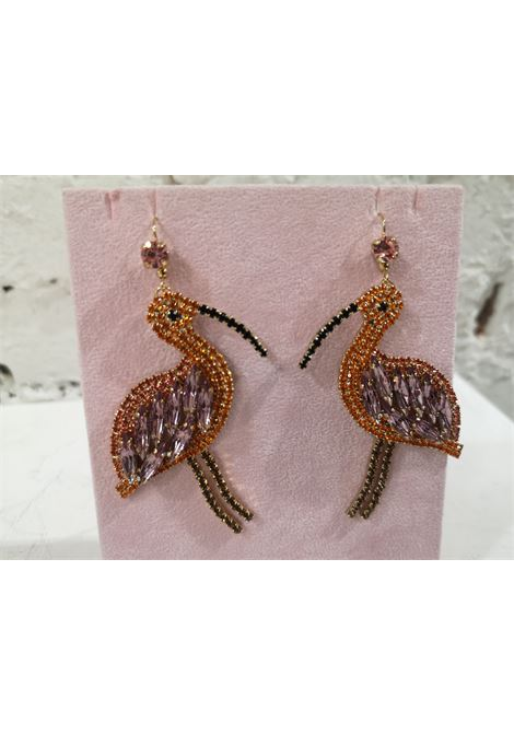 LisaC orange pink black flamingos earrings Lisa C. Bijoux | Orecchini | EARRINGS.,CARLITA
