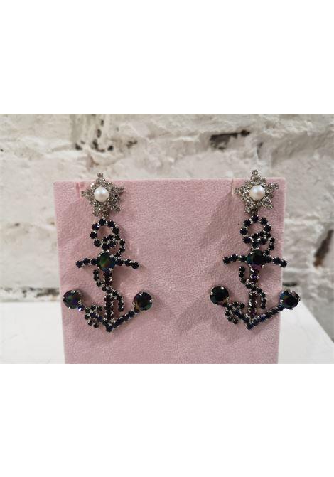 LisaC black swarovski anchor earrings Lisa C. Bijoux | Earrings | EARRINGS.,SAILOR
