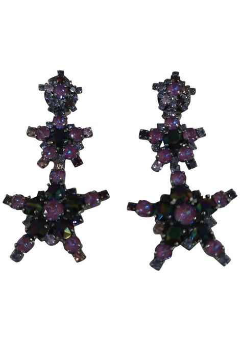LisaC Purple swarovski stars earrings Lisa C. Bijoux | Earrings | EARRINGSANDREA