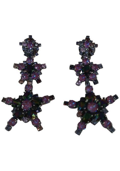 LisaC Purple swarovski stars earrings Lisa C. Bijoux | Orecchini | EARRINGSANDREA