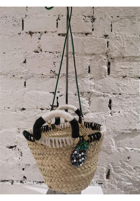 LisaC raffia Pineapple swarovski shoulder handbag Lisa C. Bijoux | Borsa | FIFIANANAS