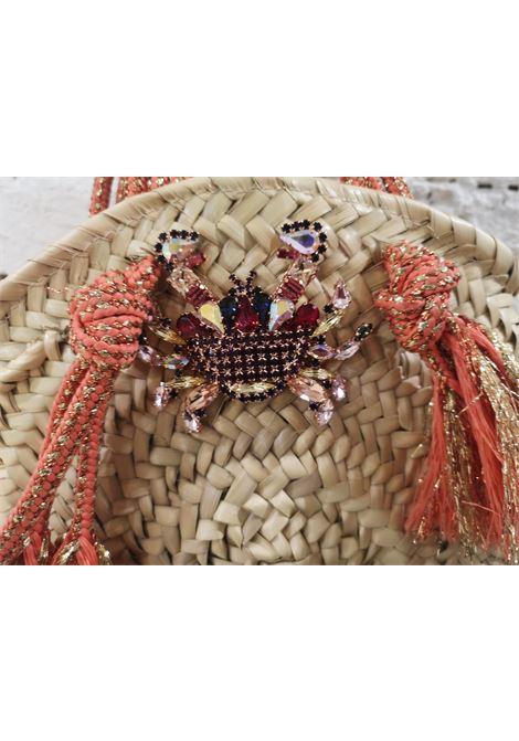 LisaC raffia swarovsky crab handbag Lisa C. Bijoux | Borsa | FIFIRAFIA