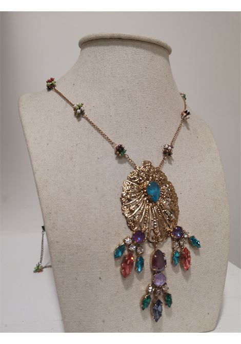 LisaC gold tone swarovski stones necklace Lisa C. Bijoux | Necklaces | JAY-