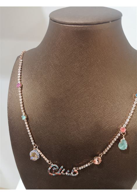 LisaC Club multicoloured swarovski stones necklace