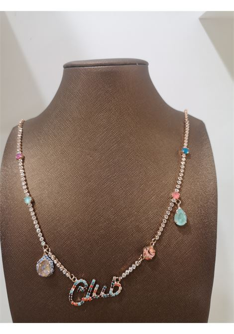 LisaC Club multicoloured swarovski stones necklace Lisa C. Bijoux | Collana | LIVE CLUB-