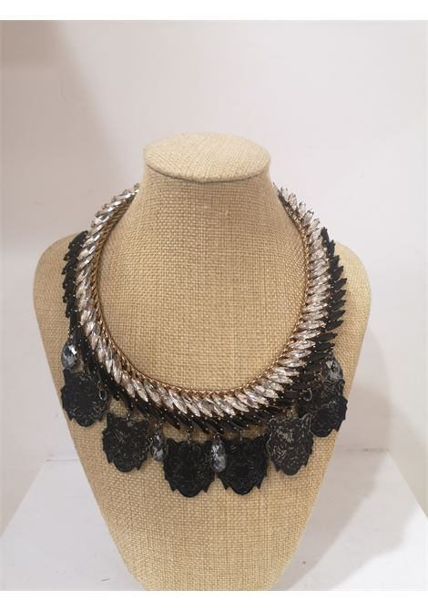 LisaC Black tigers swarovski stones necklace Lisa C. Bijoux | Necklaces | PLUME-