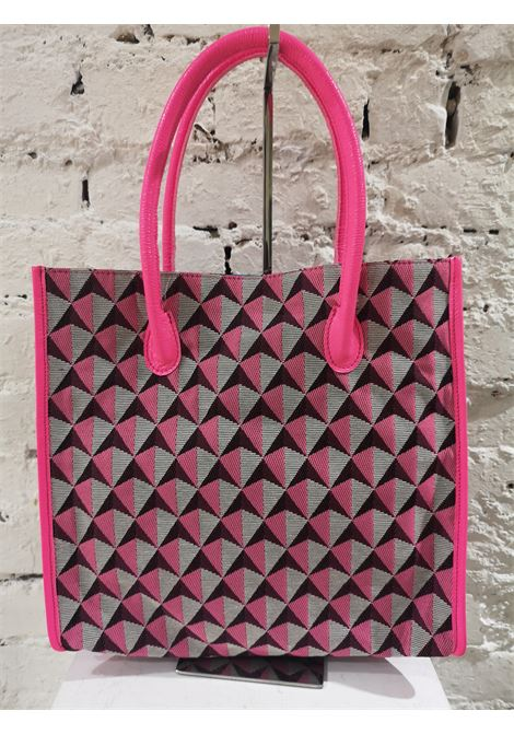 LisaC fucsia grey handbag / shoulderbag Lisa C. Bijoux | Borsa | ROSE BAG-