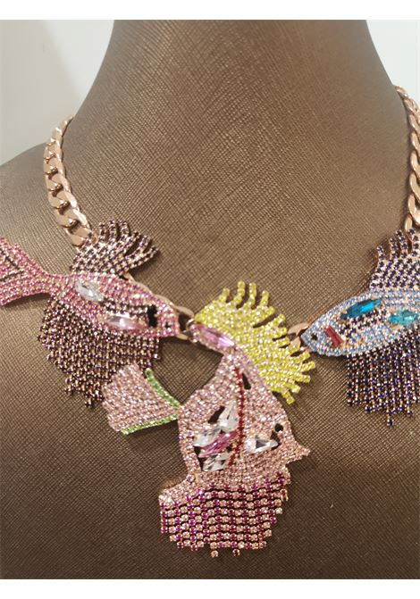 LisaC Fish multicoloured swarovski stones necklace Lisa C. Bijoux | Necklaces | ZIVA-