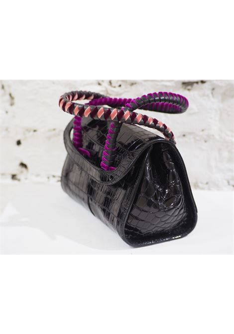 Malo black cocco and velvet mini handbag Malo | Borsa | AT020XS45X0SCOCCO