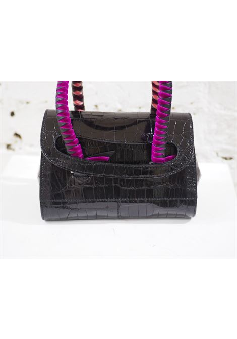Malo black cocco and velvet mini handbag Malo | Borsa | AT020XS45X0SCOCCO