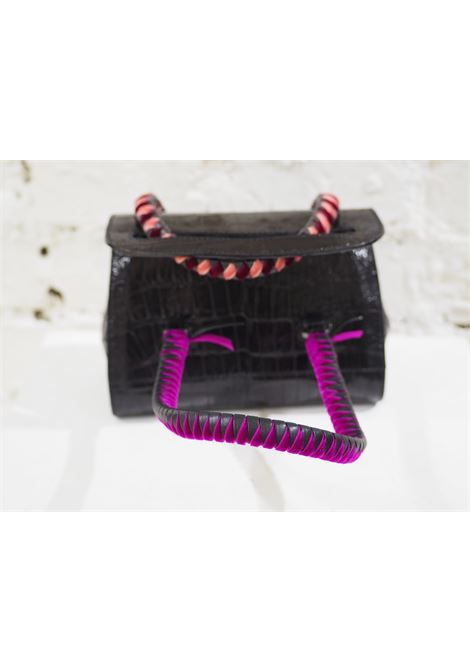 Malo black cocco and velvet mini handbag Malo | Bags | AT020XS45X0SCOCCO
