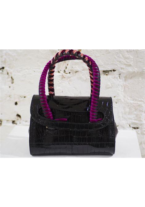 Malo black cocco and velvet mini handbag Malo | Bags | AT020XS45X0SCOCCO