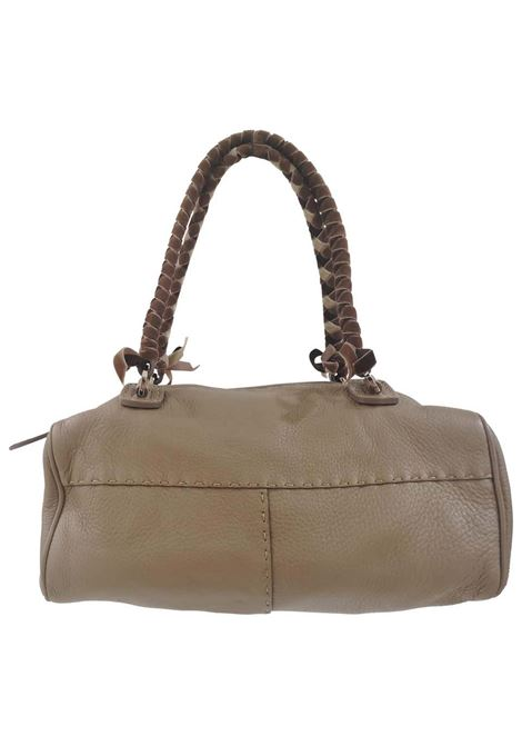 Malo leather velvet handle shoulder bag Malo | Borsa | AT020XSA200XETOUPE