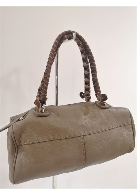 Malo leather velvet handle shoulder bag Malo | Borsa | AT020XSA200XETOUPE