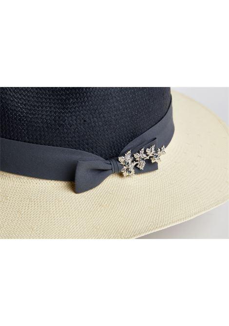 Blue and White Hat mani del sud | Hat | HFEDORABLU BIANCO