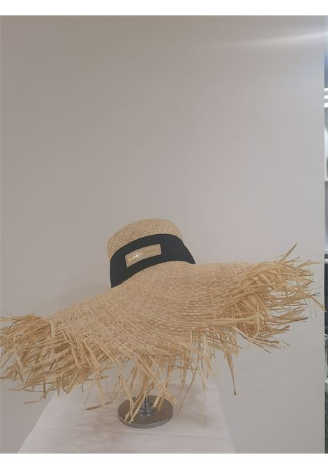 Nude rafia handmade hat Michele Chiocciolini | Hats | CAPPELLORAFFIA