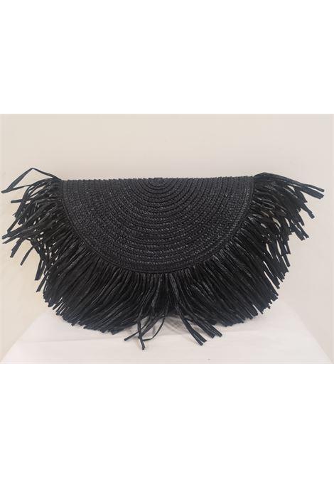Florence black rafia bag Michele Chiocciolini | Borsa | FLORENCEOVALE