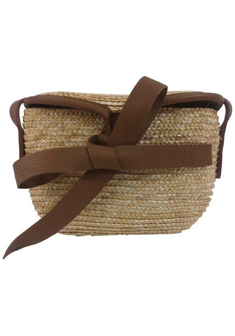 Diana rafia handmade minauderie shoulder bag Michele Chiocciolini | Borsa | MINI DIANANUDE