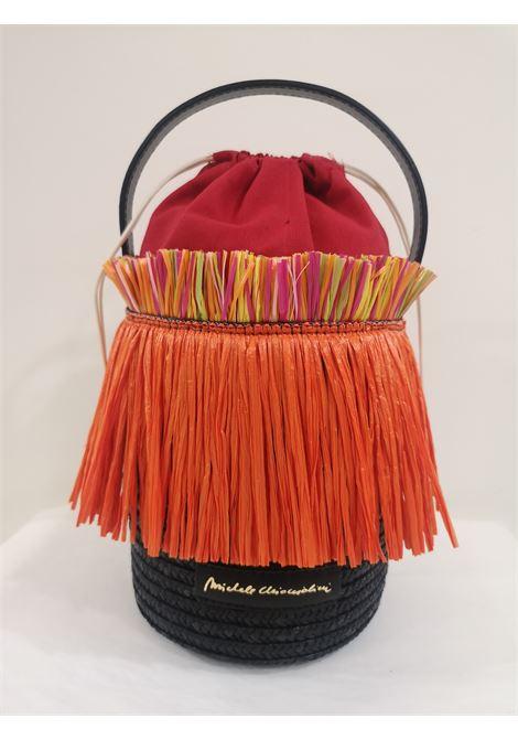 Sofia rafia handmade satchel / handbag Michele Chiocciolini | Satchels | SOFIAARANCIO