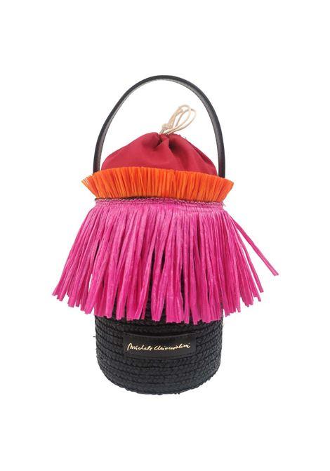 Sofia rafia handmade satchel / handbag Michele Chiocciolini | Satchels | SOFIAFUCSIA
