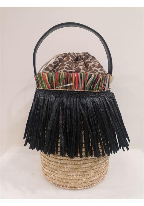 Sofia rafia handmade satchel / handbag Michele Chiocciolini | Satchels | SOFIANERO