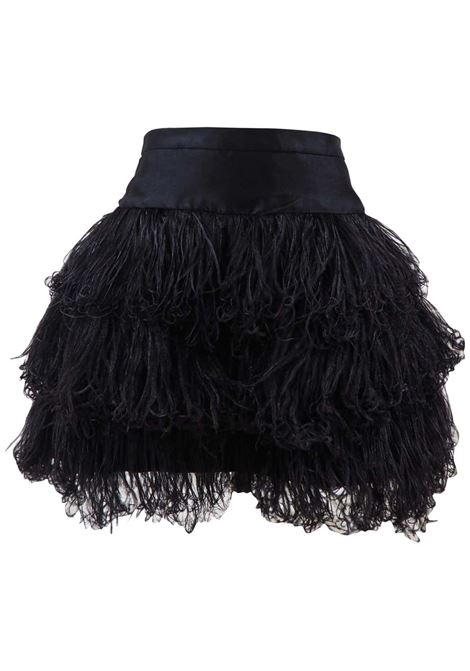 Moschino black feathers skirt