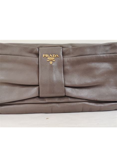 Prada grey leather pochette Prada | Borsa | AT02025DWS0FVROSA