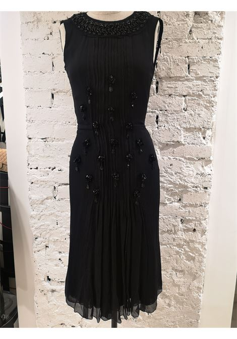 Prada Black silk with swarovsky stones Dress Prada | Abito | AT45S0NERO