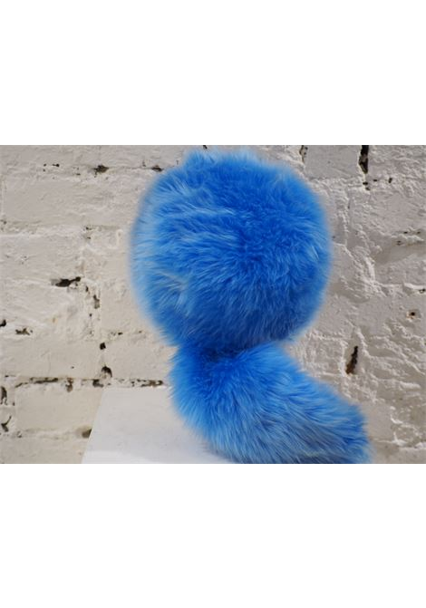 Prada light blue faux fox fur hat NWOT Prada | Cappello | HATAZZURRO