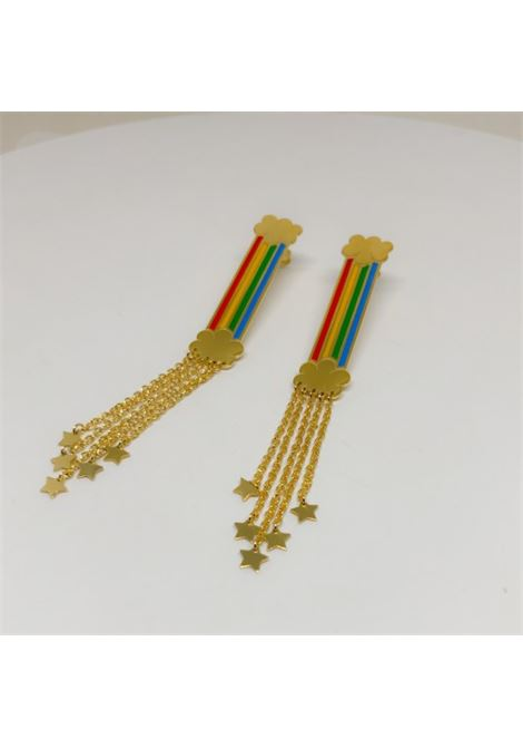 Rainbow silver Mono earrings  Rossella Catapano | Earrings | ARCOBALENOORO GIALLO