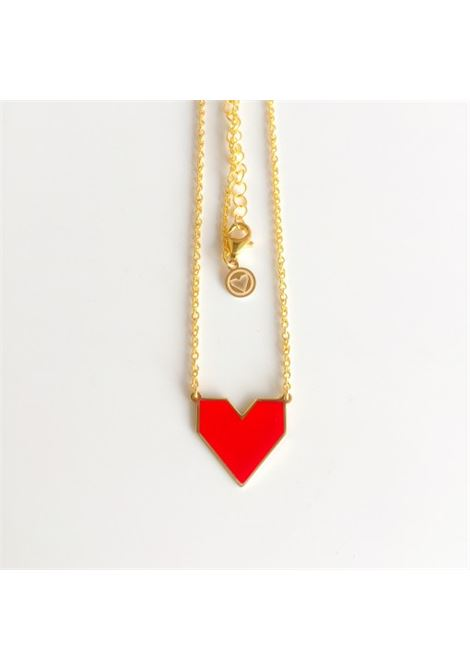 Red Heart Silver Necklace Rossella Catapano | Collana | CUOREORO