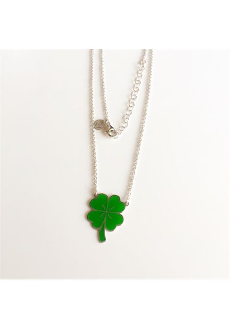4leaves good luck green silver necklace Rossella Catapano | Collana | QUADRIFOGLIO-