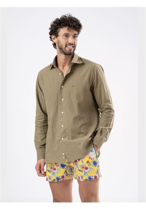 Safe Milano Green cotton shirt Safe Milano | Camicia | CAMICIA COLLOVERDE