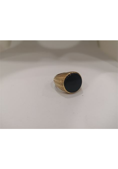 Gold plated onyx ring Scognamiglio Gioielli | Anello | CHEVALIER ONICEONICE