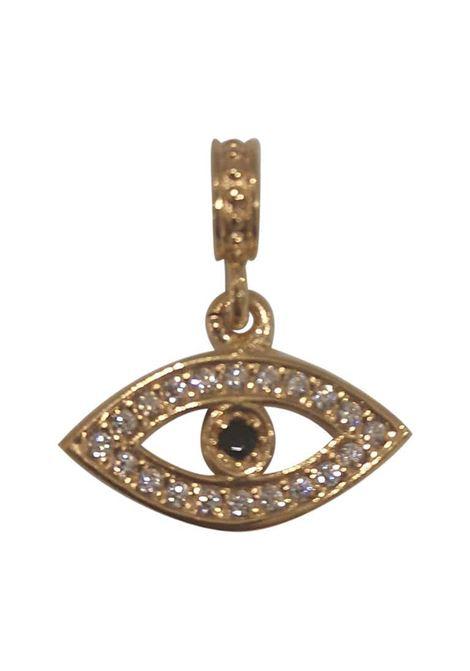 Gold plated eye zirconia charm Scognamiglio Gioielli | Ciondolo | MISTIOCCHIO