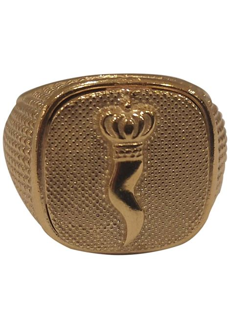 Gold plated good luck amulet ring Scognamiglio Gioielli | Rings | QUADRATOCORNO
