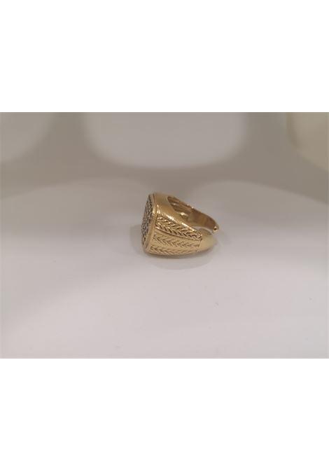 Gold plated blue zirconia ring Scognamiglio Gioielli | Anello | QUADRATO KZBLU