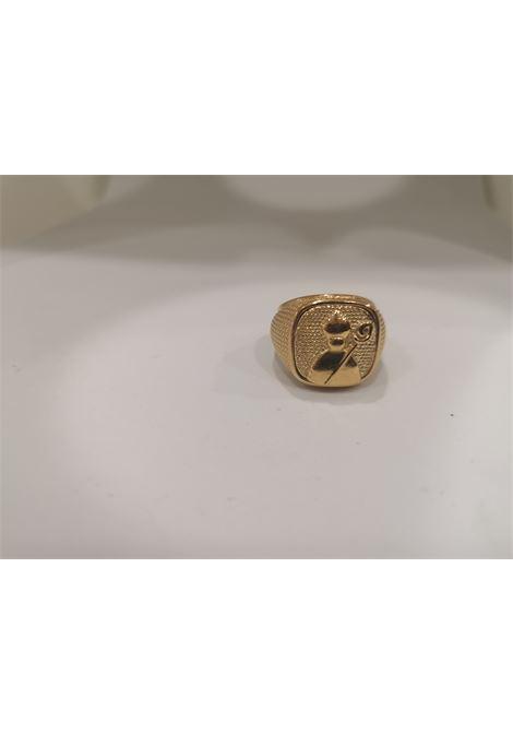 Gold plated St Januarius San Gennaro ring Scognamiglio Gioielli | Rings | QUADRATOSAN GENNARO